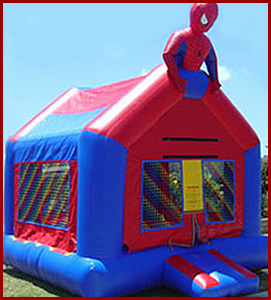 Inflatable Spider Hero Jumper
