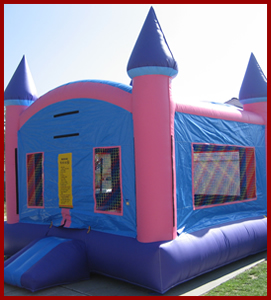 Inflatable Pink Castle Jumper