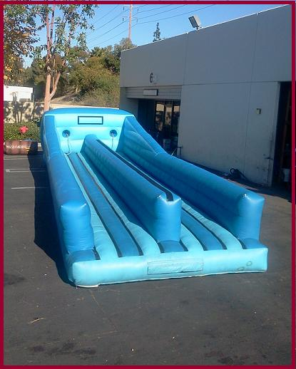 Inflatable Water Slide Rental San Jose: Blue Bungee Run Interactive All Star Jumpers