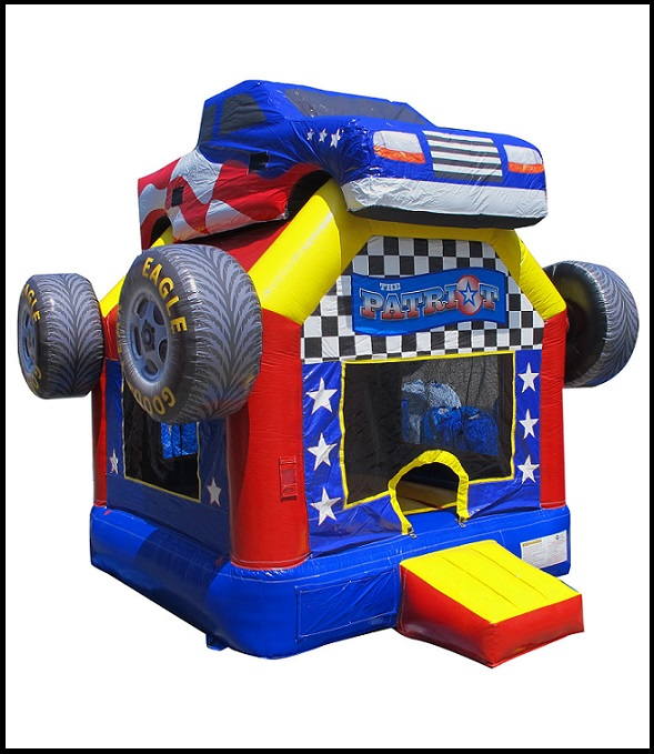 Inflatable Monster Wheels Deluxe Bounce House Sky High Party Rentals